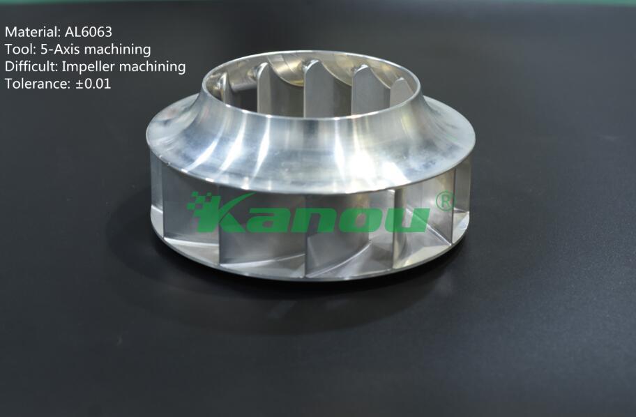 5 axis machining aluminum part Impeller machining parts