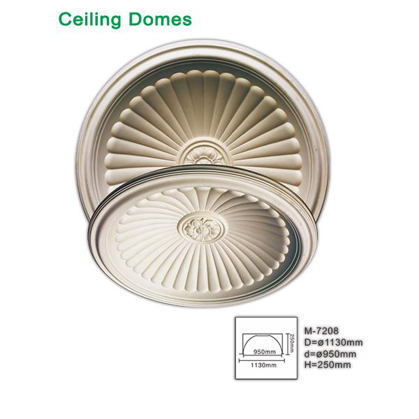 Round roof decorative dome polyurethane
