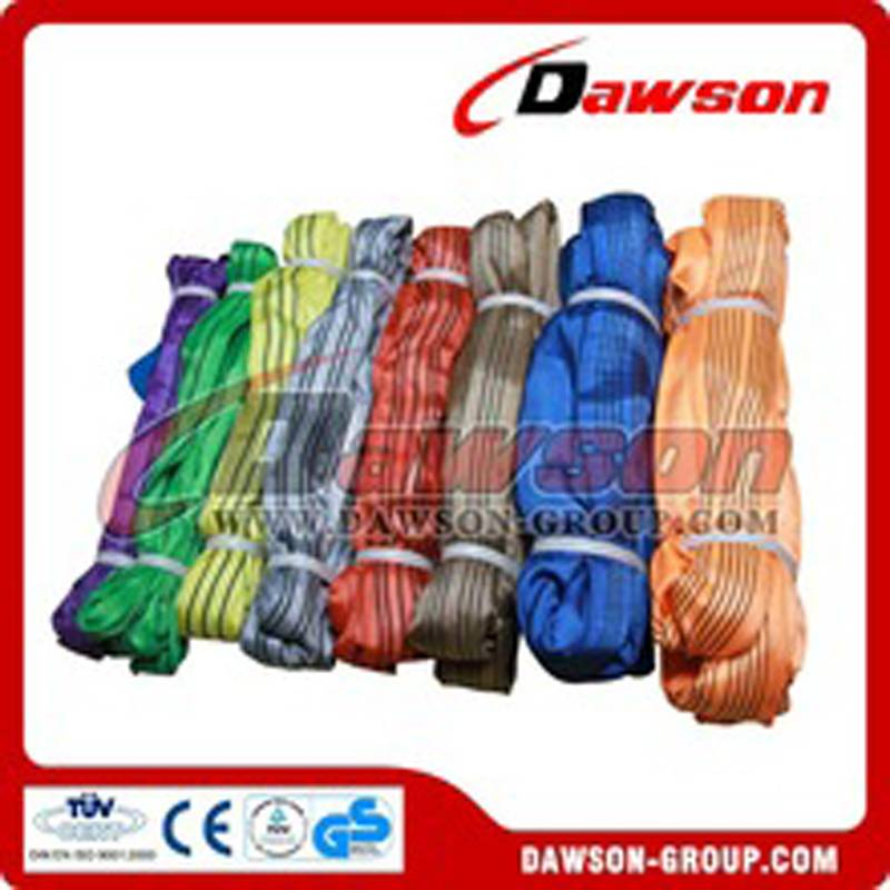 1 Ton to 1000 Ton Polyester Round Lifting Slings