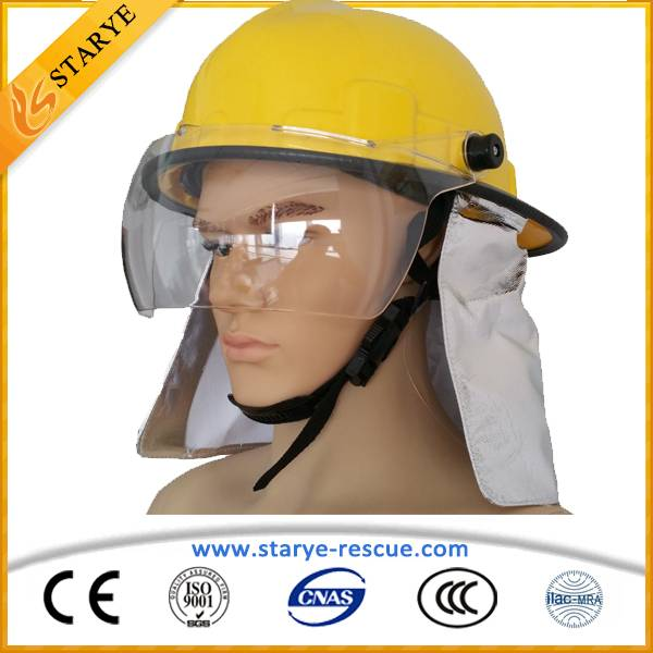 High Quality Plastic Head Protecting Fireman Safety Helmets