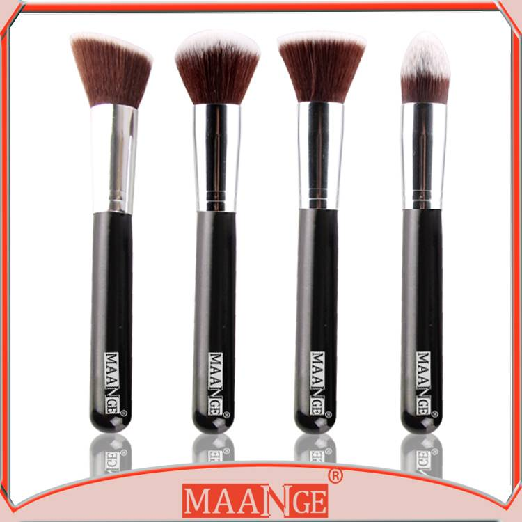 MAANGE High end 4pcs makeup brush set with synthetic hair