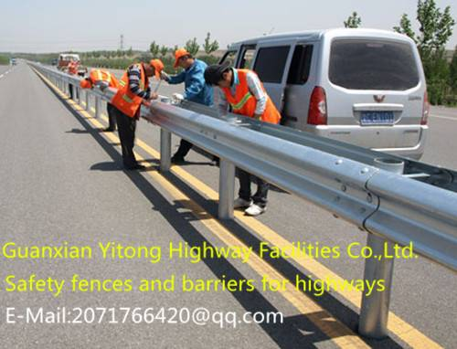 Safety fences and barriers for highways