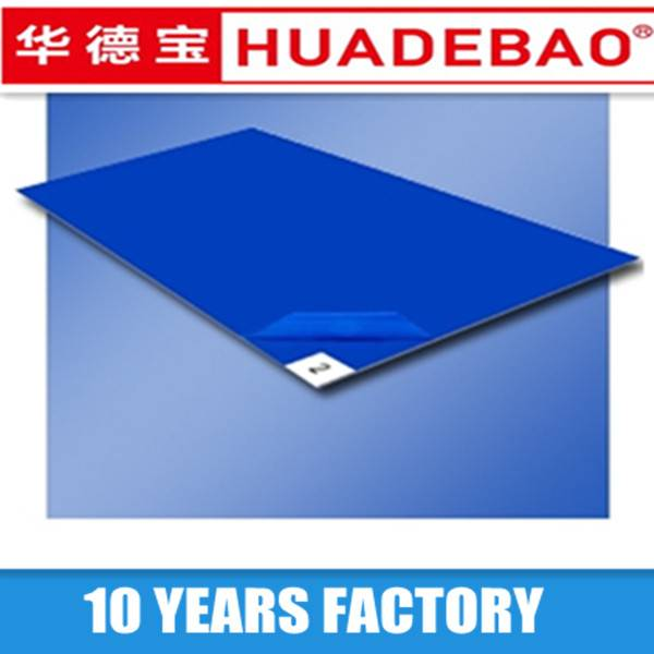 blue disposable sticky mat  30sheets PE film for lab use