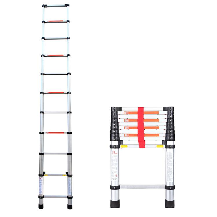 export to korea telescopic ladder aluminum folding stairs 3.2m 10.5feet one time folding