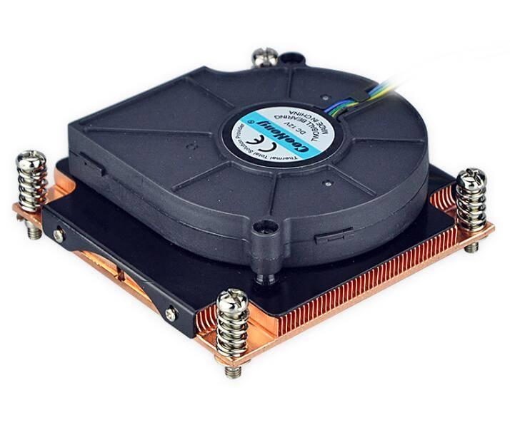 Copper heat sink with cooling fan