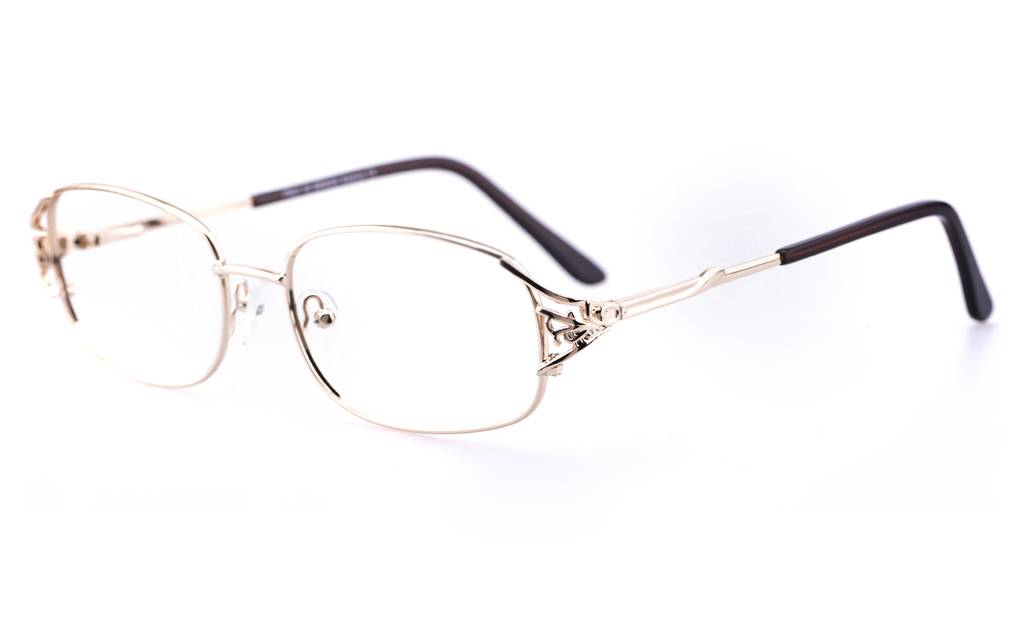 Gold 1110 Full Rim Oval Metal-Stainless Steel Glasses