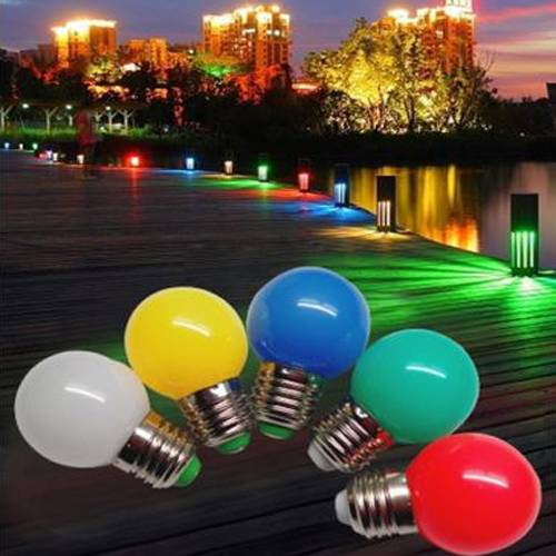 New Christmas decoration colorful 220V mini G45 E27 1w led bulb