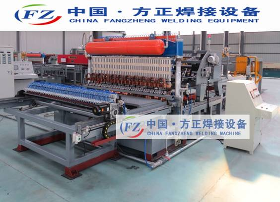 Automatic fence mesh welding machine with bending device