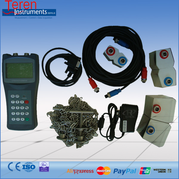 High accuracy portable ultrasonic flowmeter