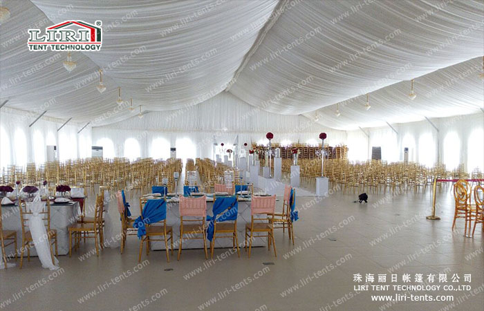 500 People White Party Tent For Outdoor Weddings And