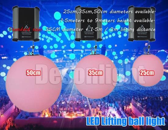 DMX lifting machine Lifting LED ball light disco bar ball LD-194