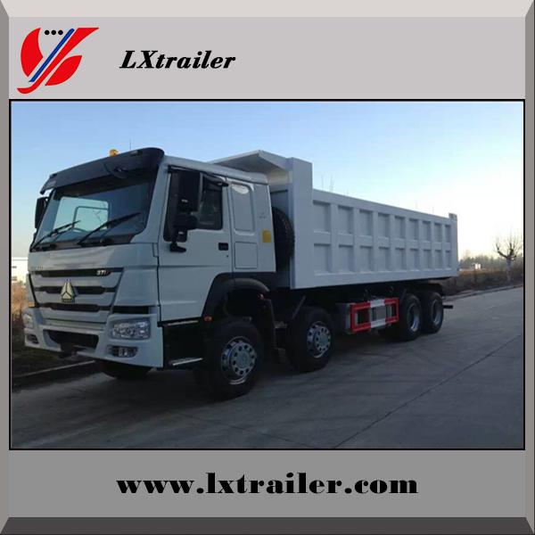 Howo 371hp 4 axles 8x4 dump truck / tipper truck for Africa