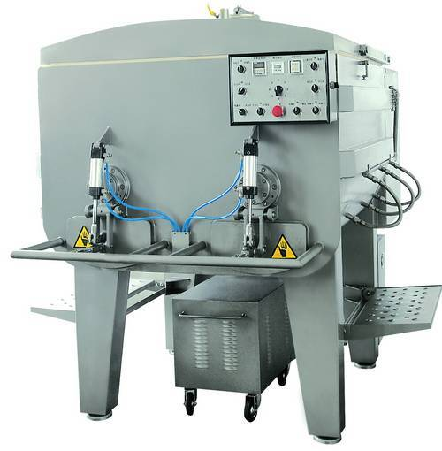 Meat mixer with nitrogen