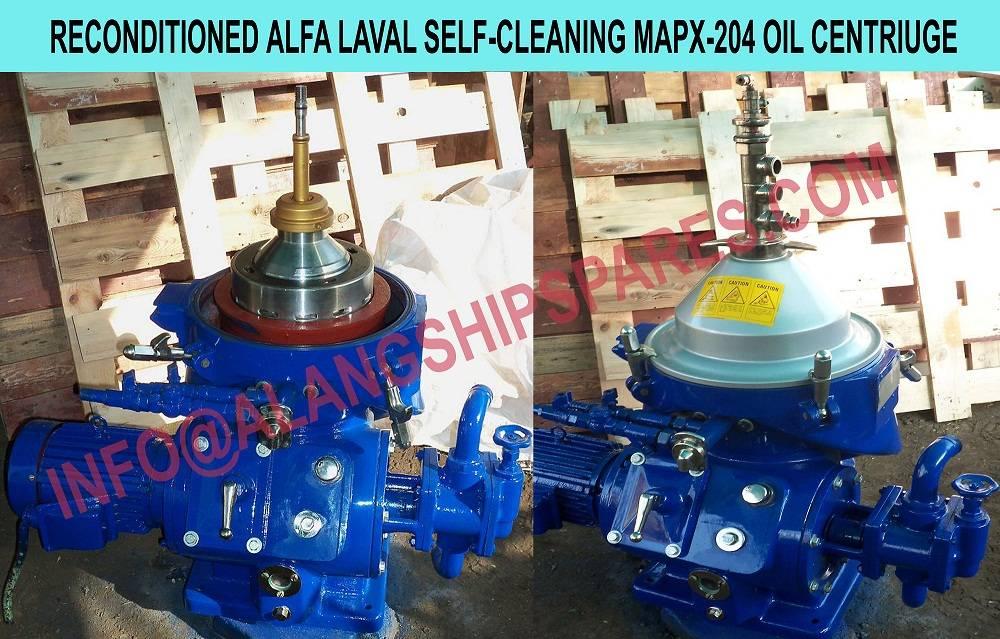 Alfa Laval oil purifier, Solid bowl separator  MAB-204, MAB-205