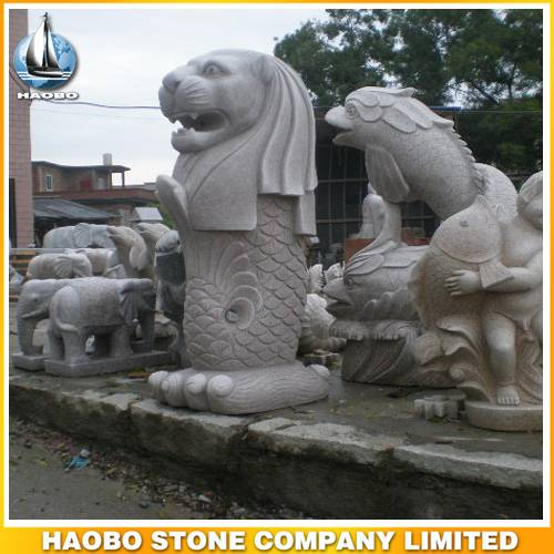 Stone Merlion Statue Hand Carved