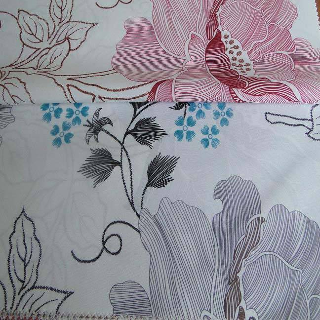 brushed printed mattress fabric RLP1326