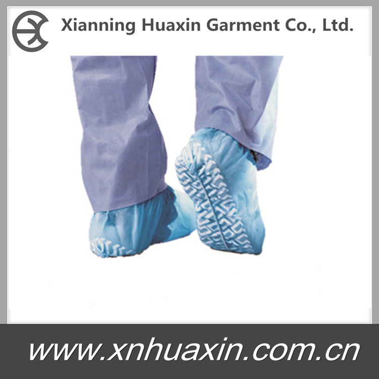 HXS-02:Nonwoven PP Shoecover with Embossed Sole