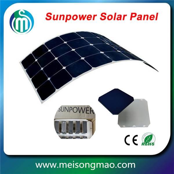 Photovoltaic solar panel Sunpower flexible solar panel 60W for caravan, boat
