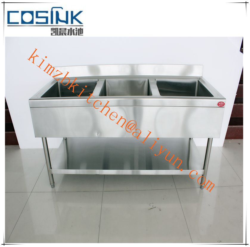 Factory Price Stainless Steel Square Bowl Kitchen Sink For Restaurant