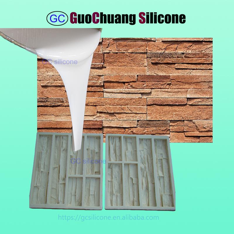 RTV2 silicone rubber for concrete faux stone veneer molds