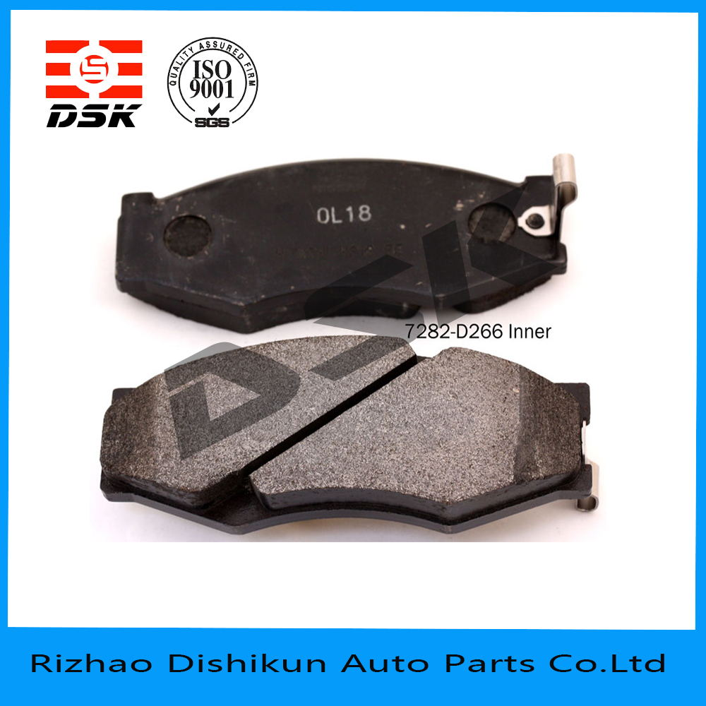 excellent quality low noise auto part brake pad 7282-D266
