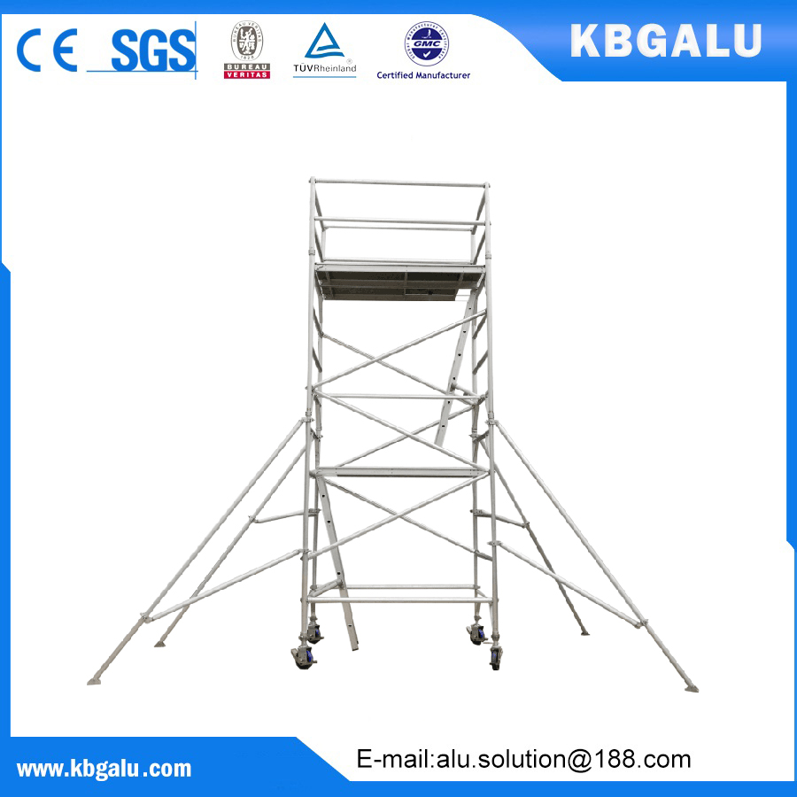 double width aluminum scaffold tower with 4.5m standing height
