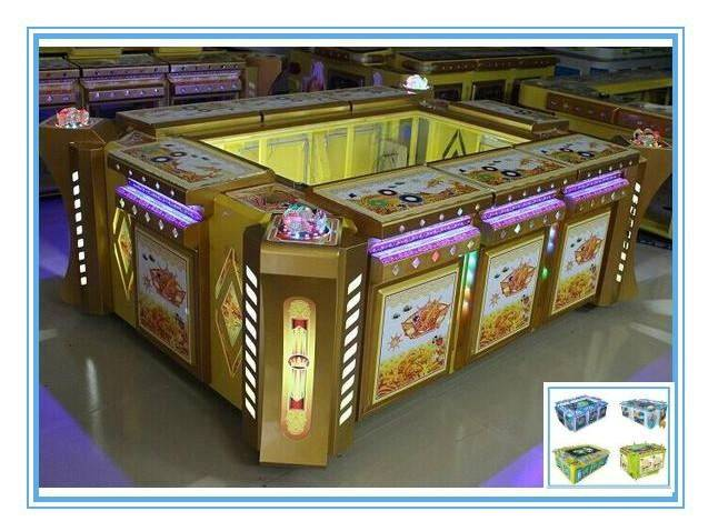 Coin Operated Game Machine / Fishing Paradise Arcade Console 8 Players Machine / Catch Fish