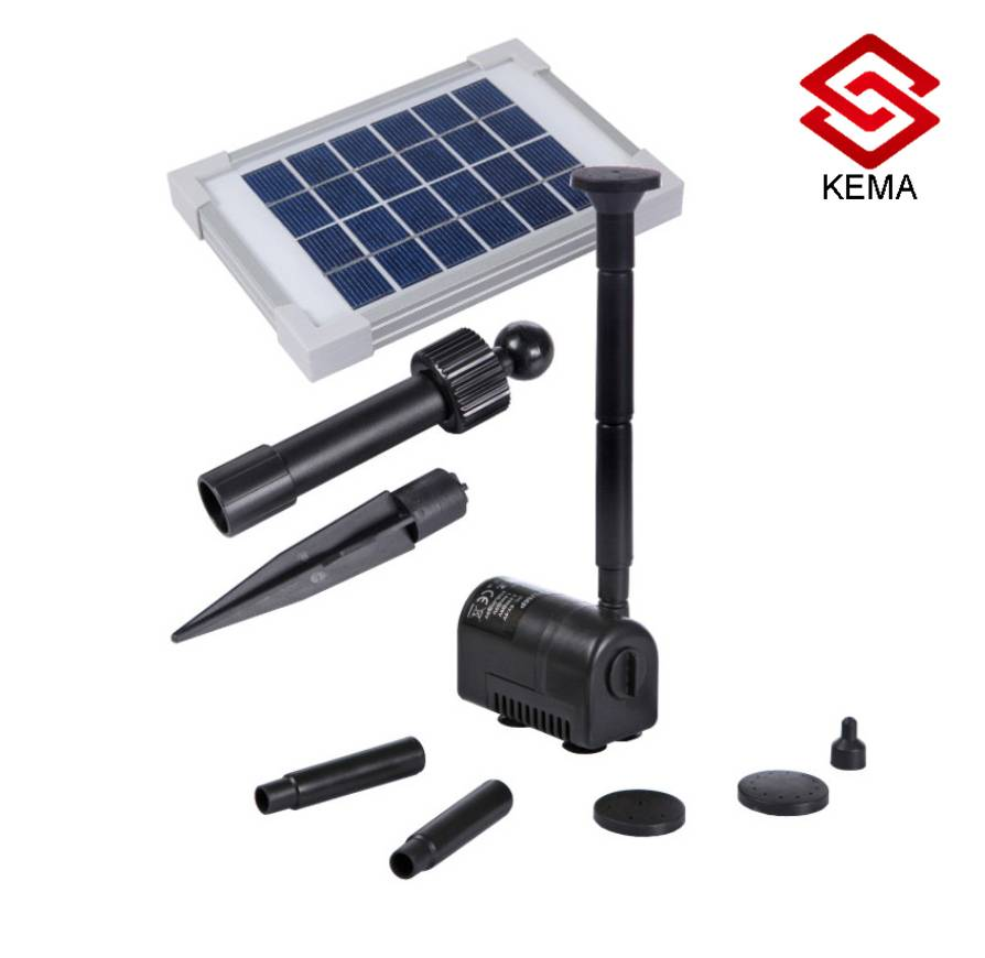 2W Flow-Adjustable Solar Pond Pump