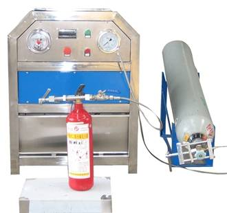 co2 extinguisher filling machine for extinguisher pressurizing