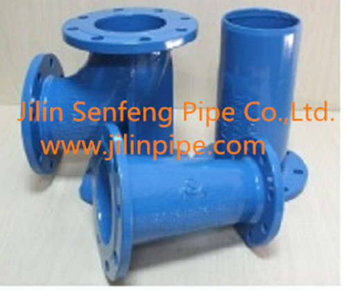 Tees ductile iron pipe fittings ISO2531 BSEN545 BSEN598