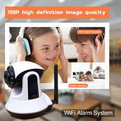 Home usage wifi ip camera remote control wifi alarm system