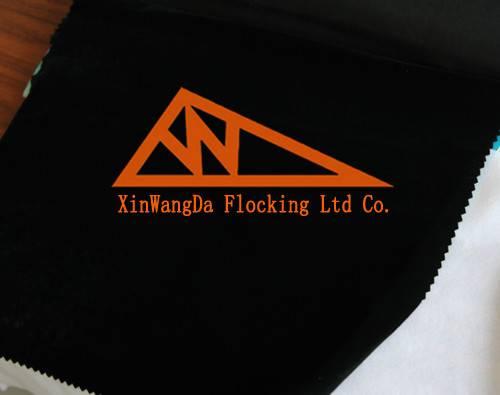 Black Flocking Materials, long-pile Flocked Cotton Materials, LFN50-3