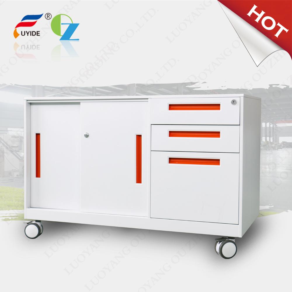 Most popular sliding door 3 drawer mobile cabinet, mobile caddy, smoothly slide, 3 section slide