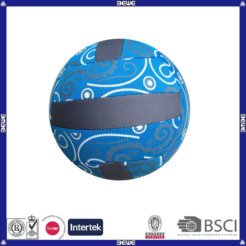 Neoprene material official size 5 beach volleyball