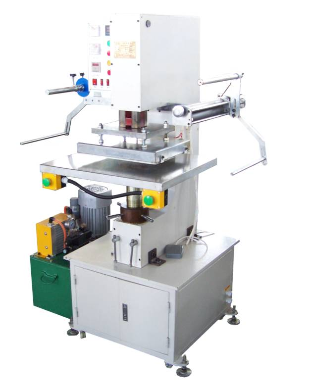 TJ-63 hydraulic hot foil stamping leather logo embossing machine