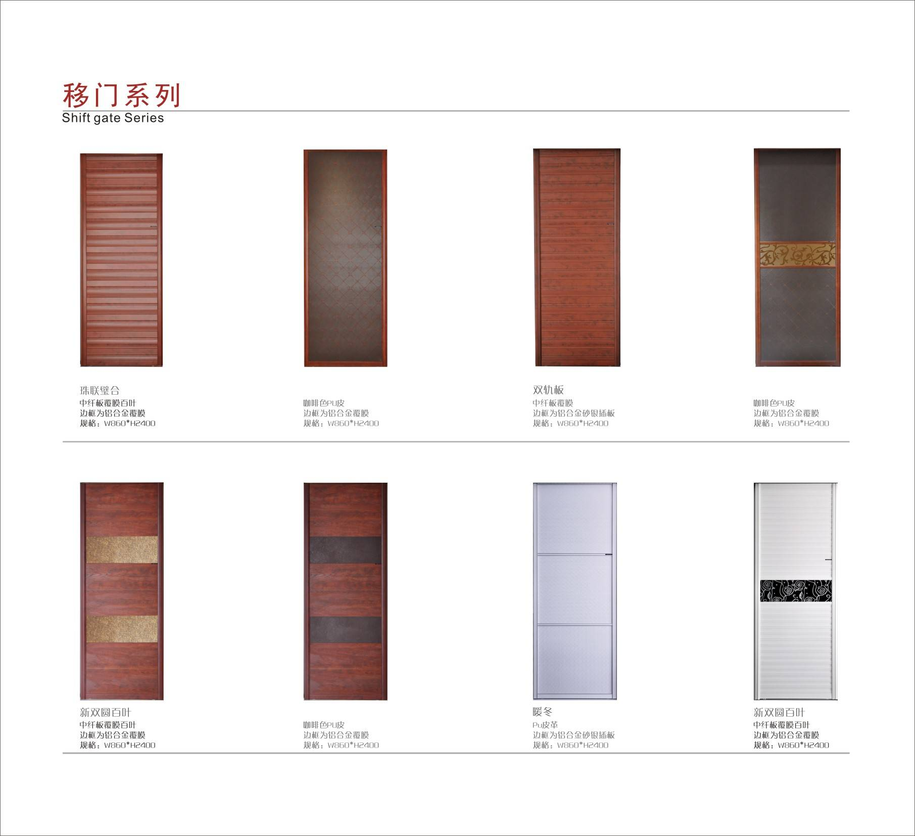 PU leather doors for wardrobes