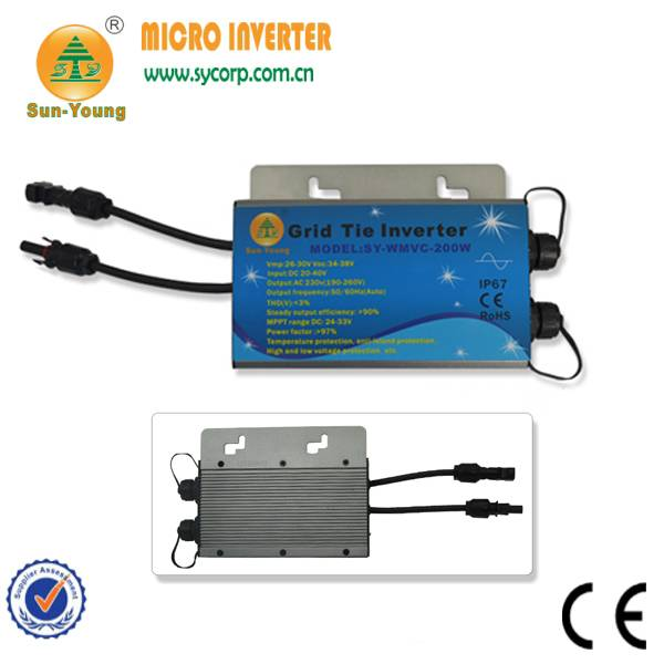 200w-300w IP67 waterproof designed communicatin surpport grid tie micro inverter , for 60cells panel