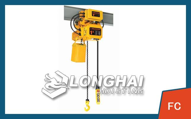 Frequency electric hoist - lifting with precision instruments
