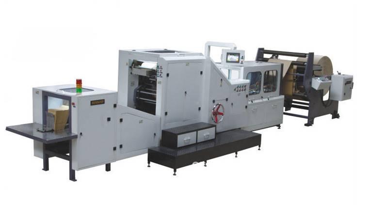Brown Kraft Paper Bag Making Machine SKYPE:KAISERZY