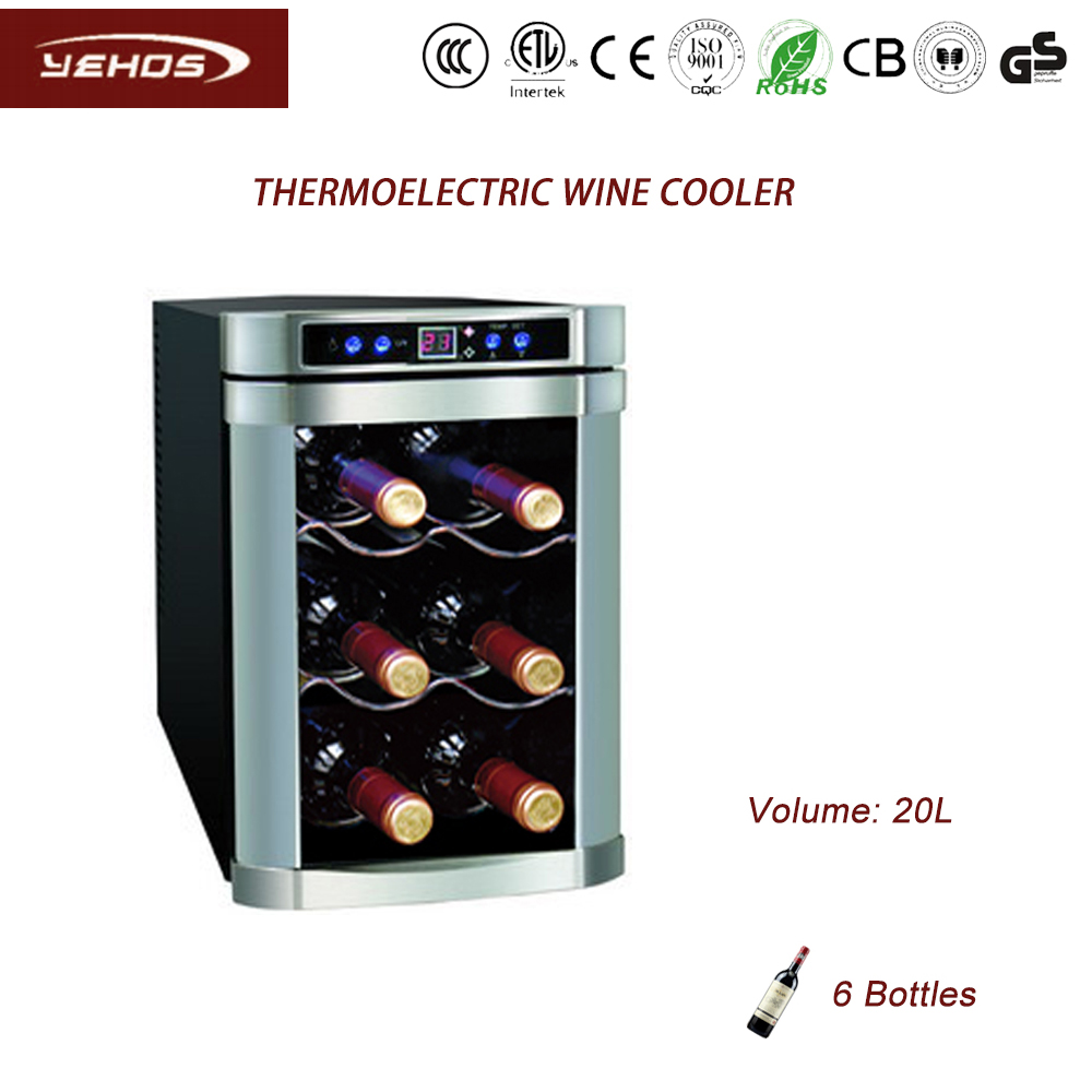 thermoelectric wine cooler with touch screen control