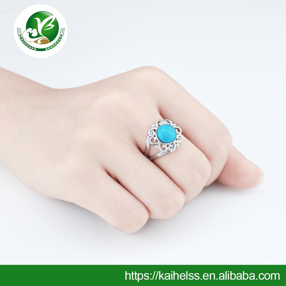 Arizona Turquoise rings hot-sale natural gemstone rings