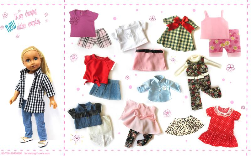 Wholesale 18 inch american girl doll clothes
