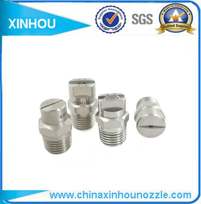 Industrial high pressure cleaner flat fan nozzle