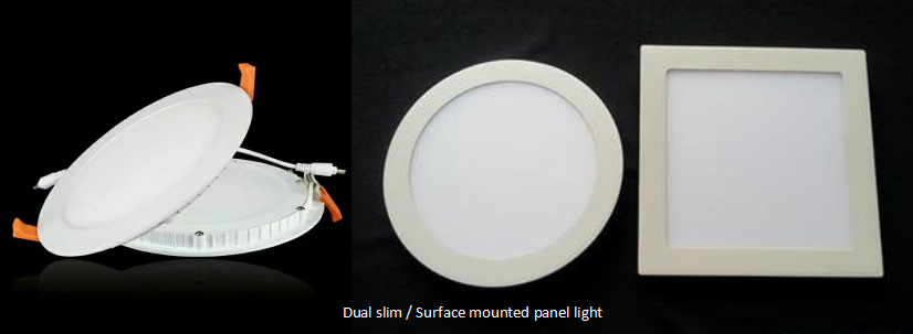 slim / Surface mounted led panel light 120° lighting around, passed CE and RoHs certification