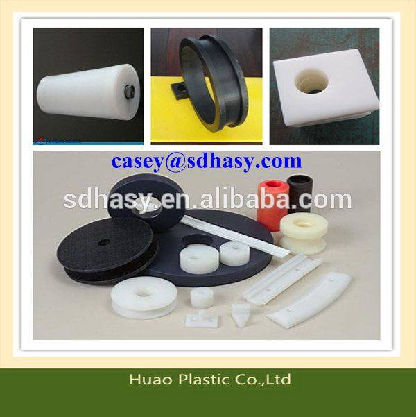 customized and high self-lubrication PE plastic part for machnical part