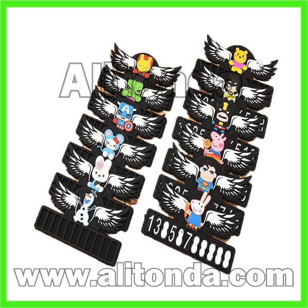 Custom silicone soft small temporary car stop boards cards for promotional gifts