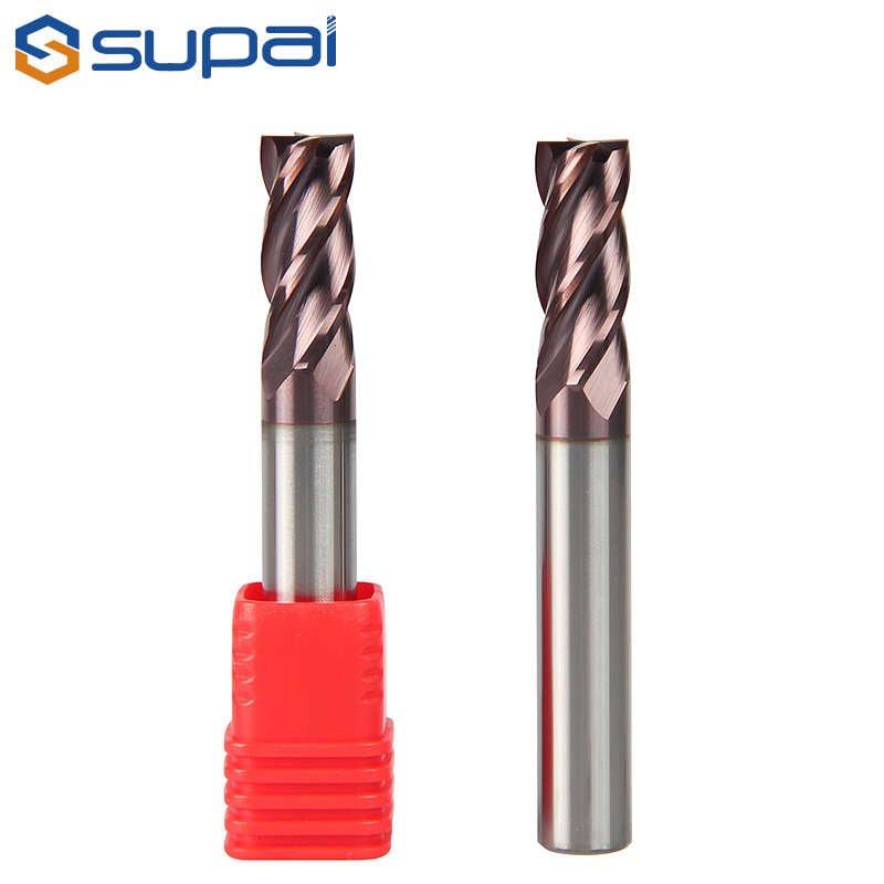 HRC55 Solid Carbide End Mill 1-20mm Supal Milling Cutter Tools 2/4 Flutes High Precision Cutting Too