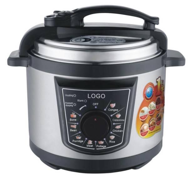 Model#J5E1 5L electric pressure cooker with aluminium inner pot