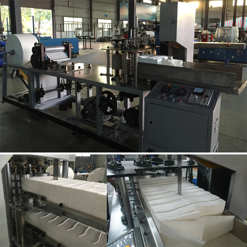Napkin Paper Folding and Color Printing Machine