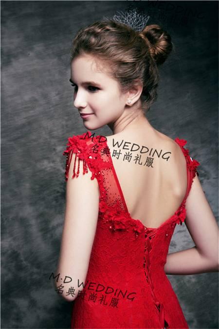 Mermaid Wedding bridal Party Evening Dress  Fashion Lace Evening Dress Net Yarn Lace Stitching  Skir